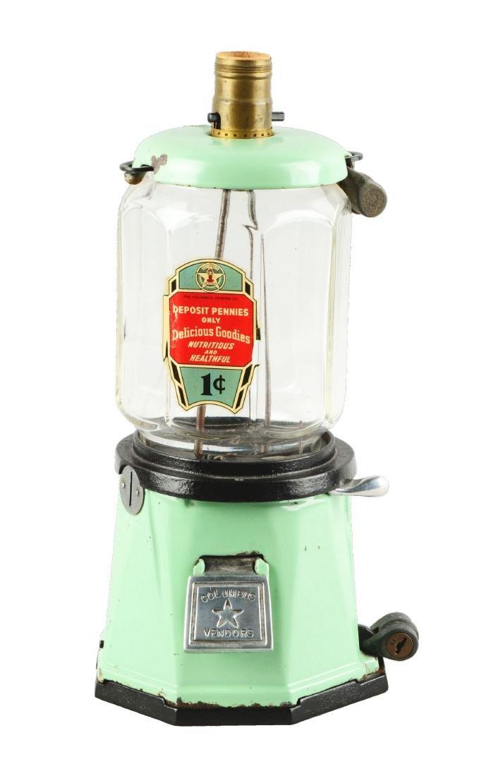 1¢ Columbus Model 21 Peanut Vending Machine.