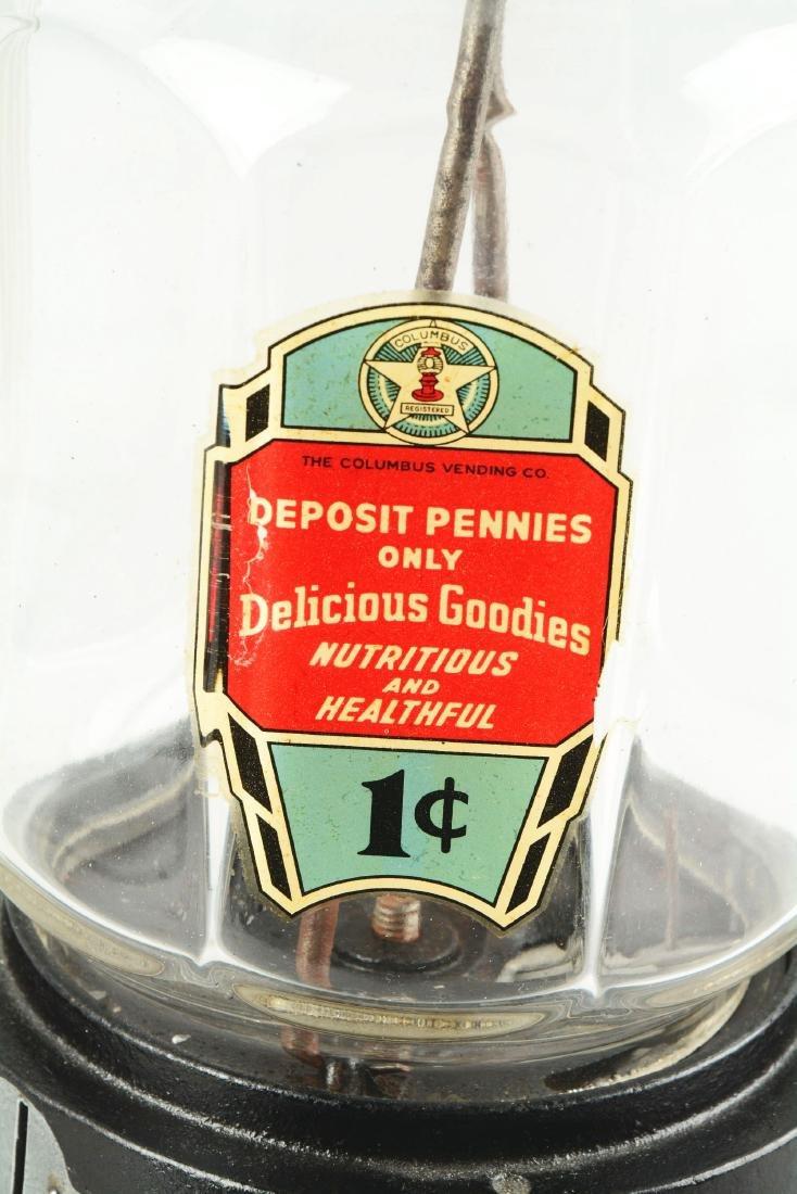 1¢ Columbus Model 21 Peanut Vending Machine. - 3