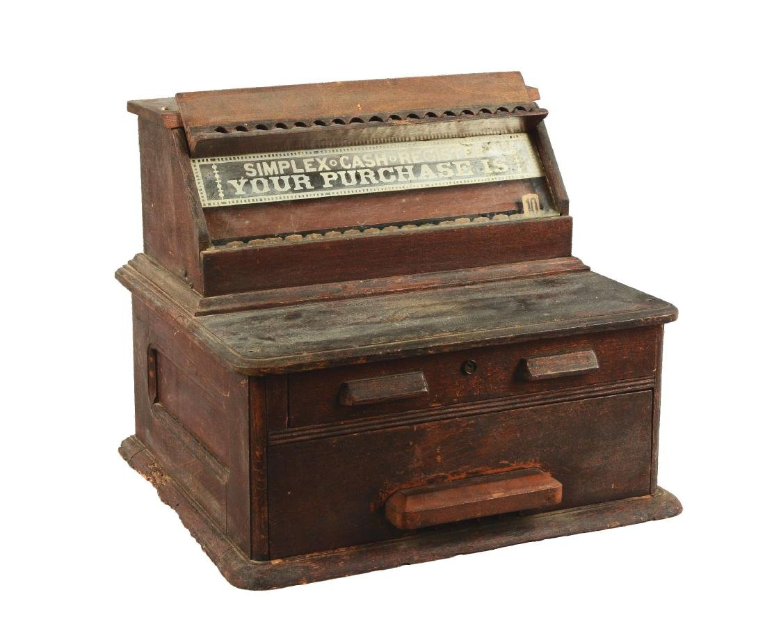 Wooden Simplex Cash Register.