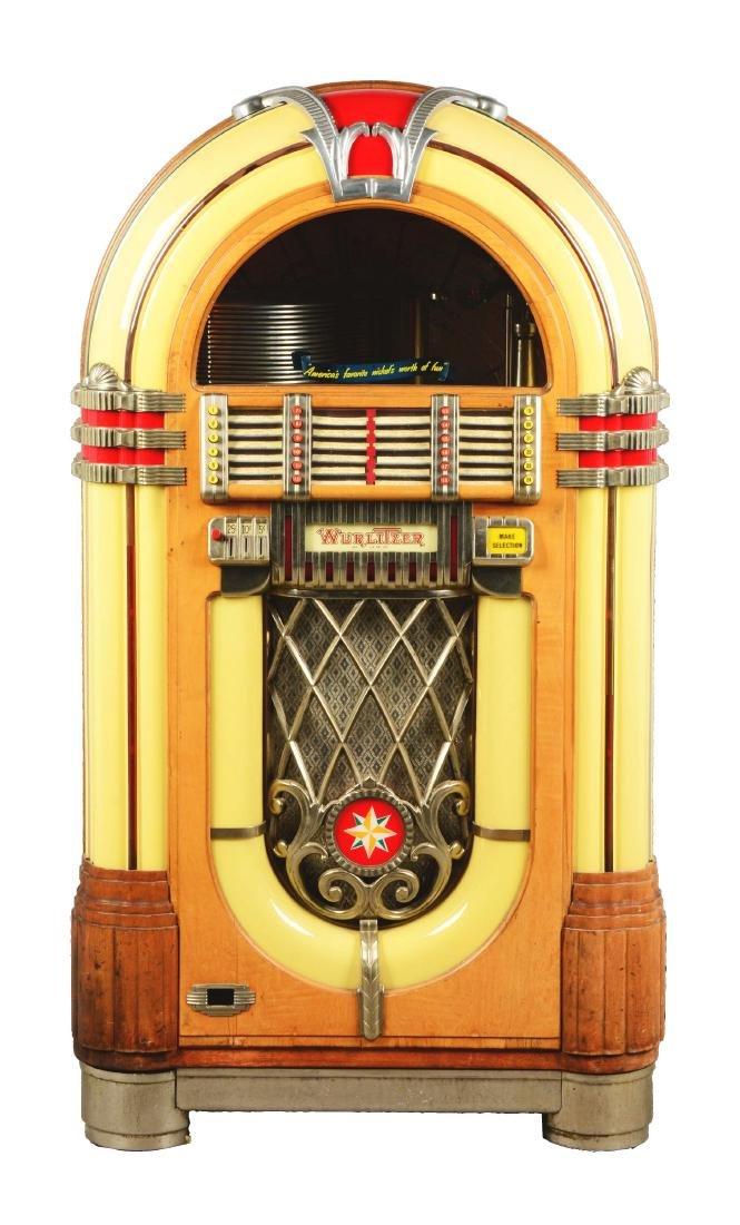 Multi-Coin Wurlitzer Model 1015 Jukebox.