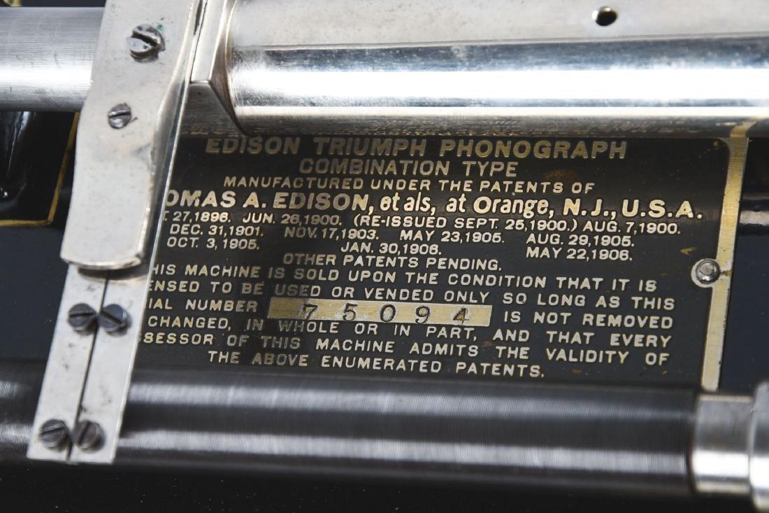 Edison Triumph Phonograph Model D. - 5
