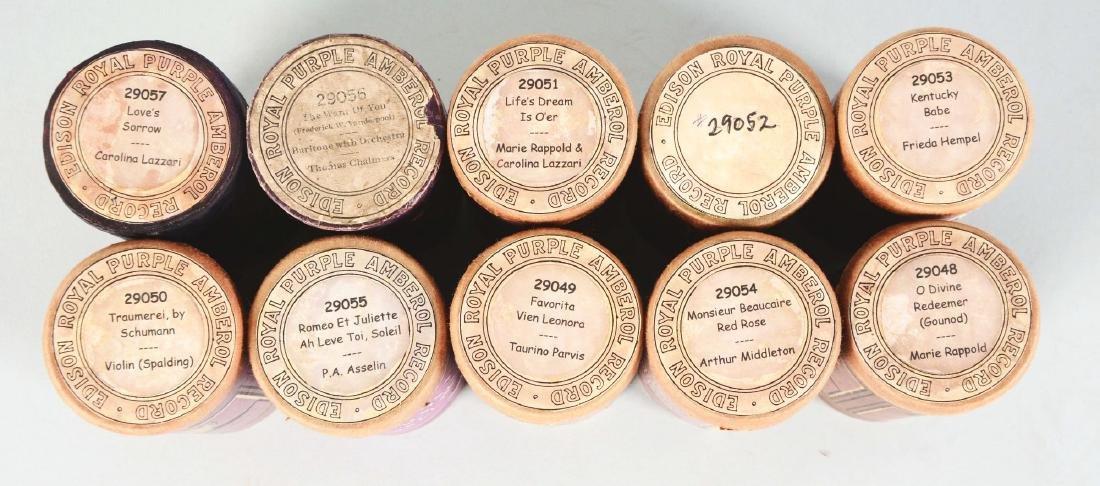 Lot Of 10: Edison Royal Purple Amberol Cylinder - 2