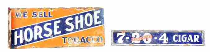 Lot Of 2 Tobacco Advertisements