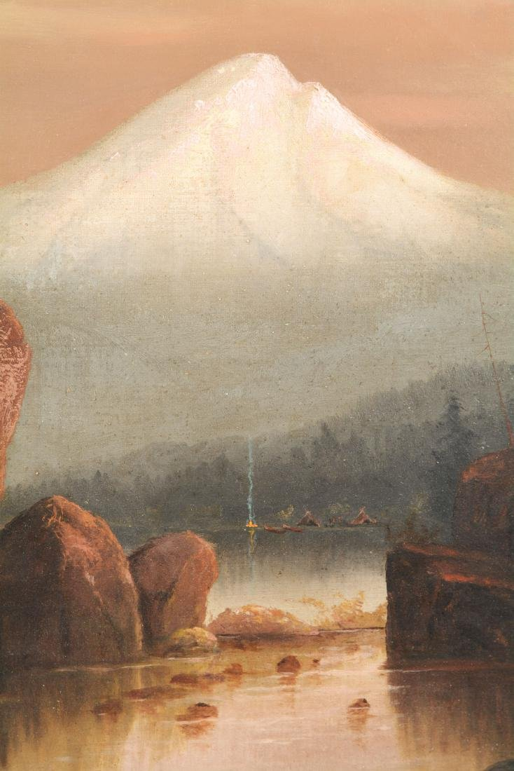 Large Oil On Canvas Painting Of Mt. Hood By H.C. Best. - 3