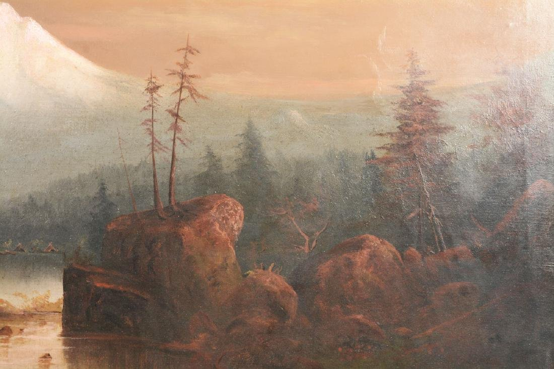 Large Oil On Canvas Painting Of Mt. Hood By H.C. Best. - 6