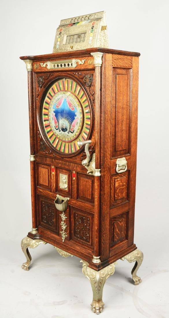 **5¢ Mills The Dewey Upright Floor Wheel Slot Machine. - 2