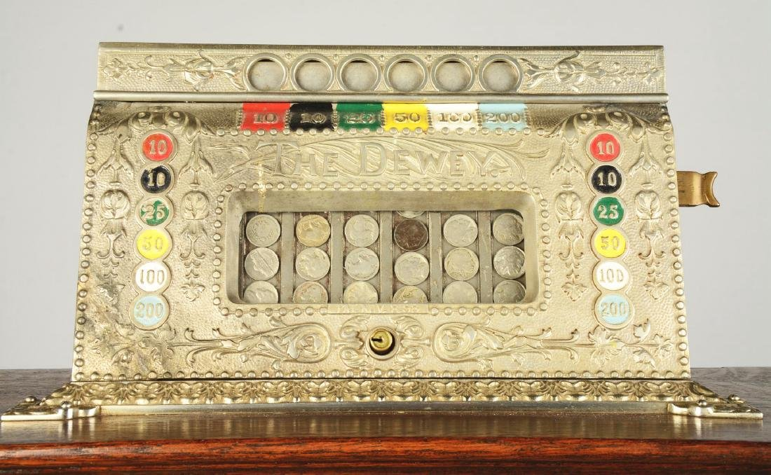 **5¢ Mills The Dewey Upright Floor Wheel Slot Machine. - 4