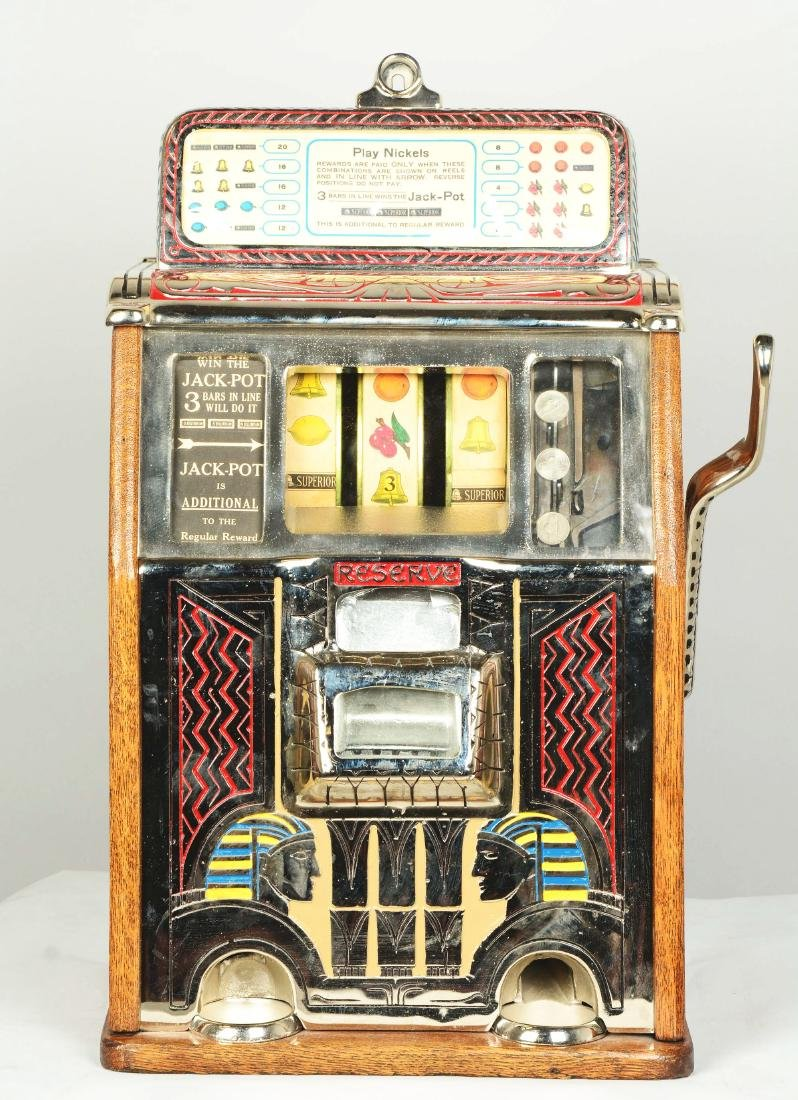 **5¢ Caille Silent Sphinx Slot Machine. - 3