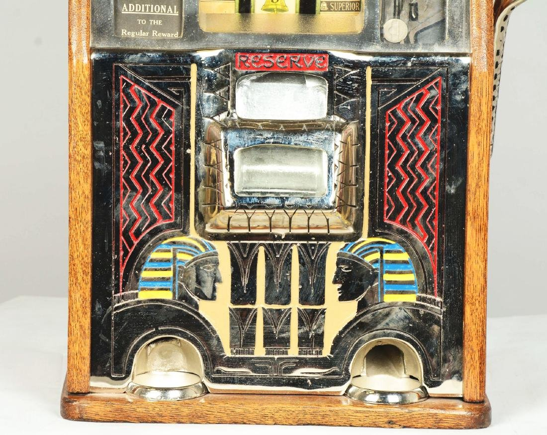 **5¢ Caille Silent Sphinx Slot Machine. - 4