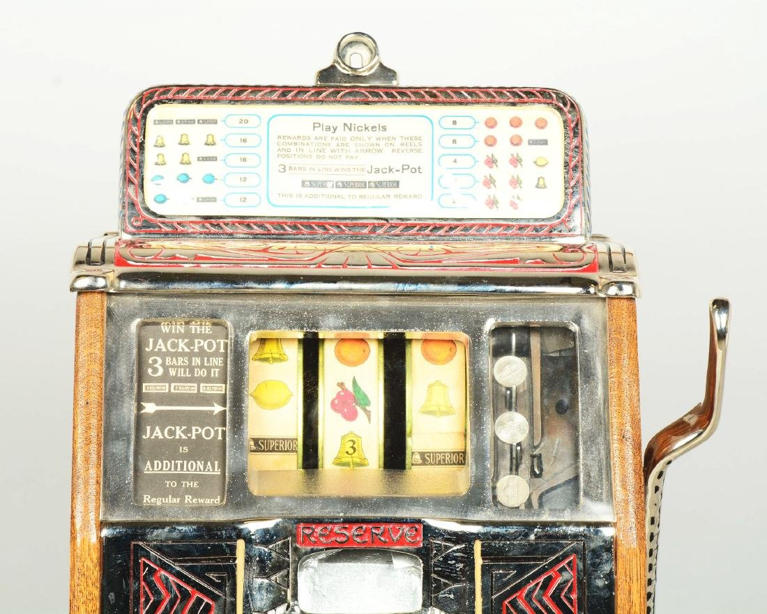 **5¢ Caille Silent Sphinx Slot Machine. - 5