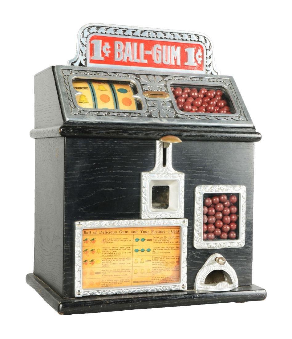 1¢ Caille Ball Gum Vendor Trade Stimulator.