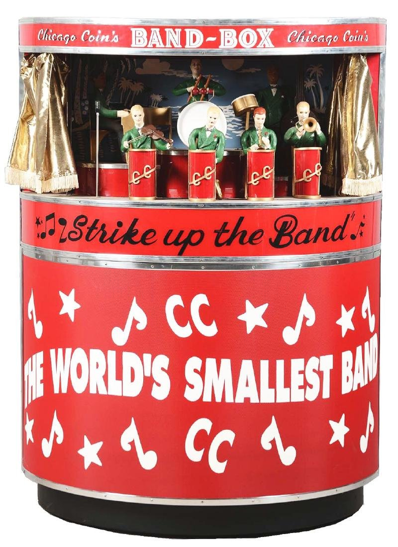1950's Chicago Coin's Band Box With Stand.