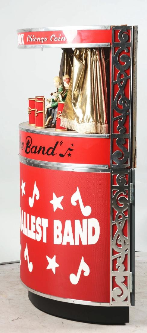 1950's Chicago Coin's Band Box With Stand. - 4