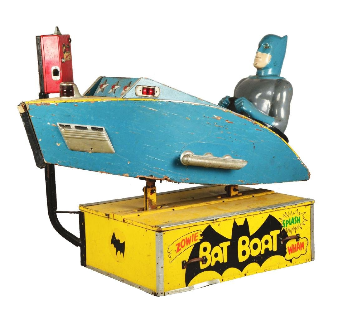 "Batman ""Bat Boat"" Children's Amusement Ride."