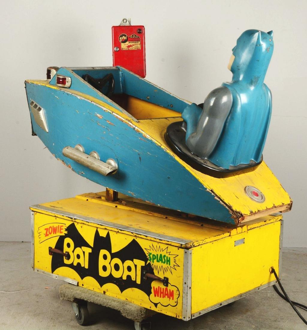 "Batman ""Bat Boat"" Children's Amusement Ride. - 3"
