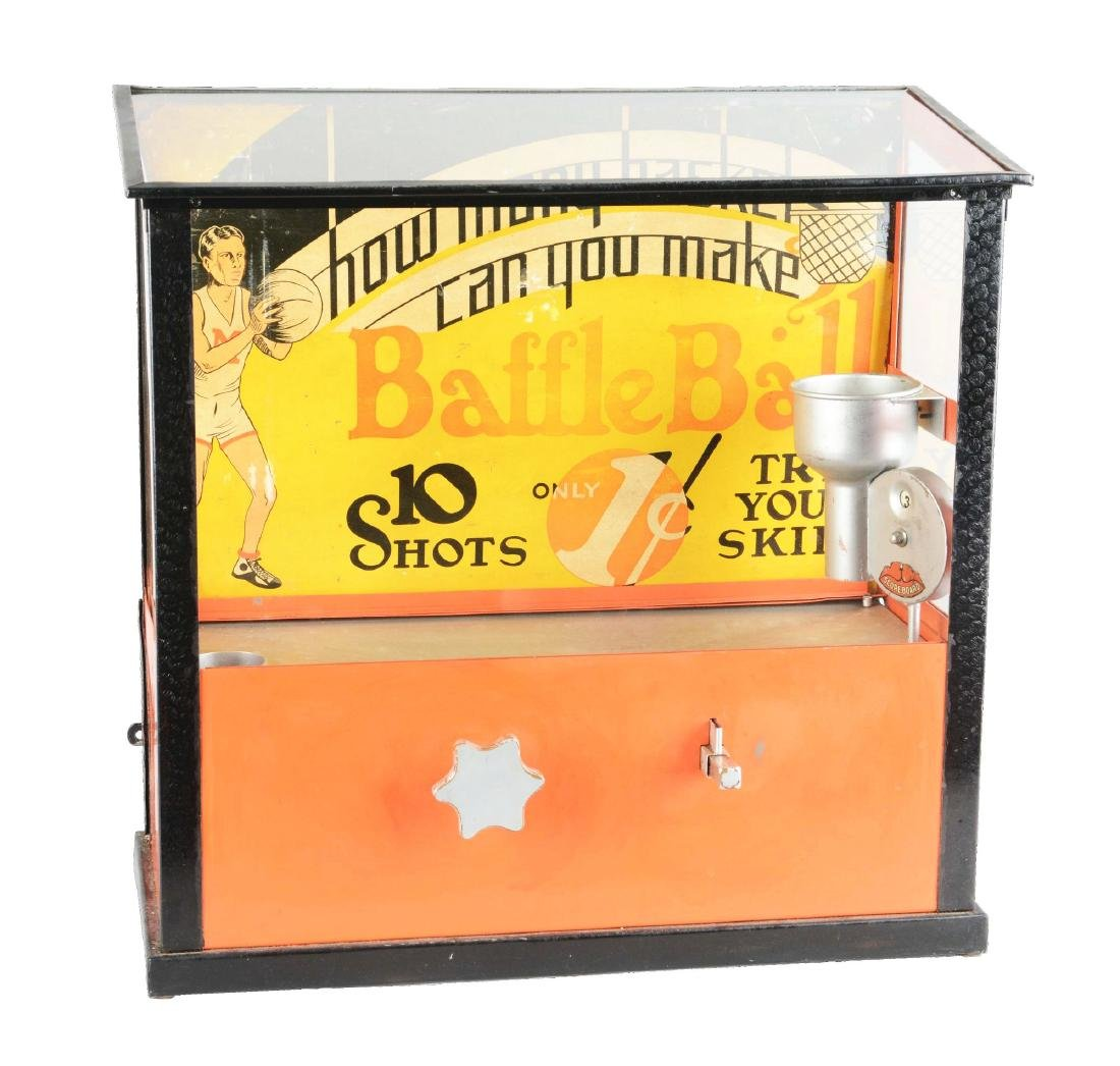 1¢ Bally Mfg. Baffle Ball Countertop Arcade Machine.