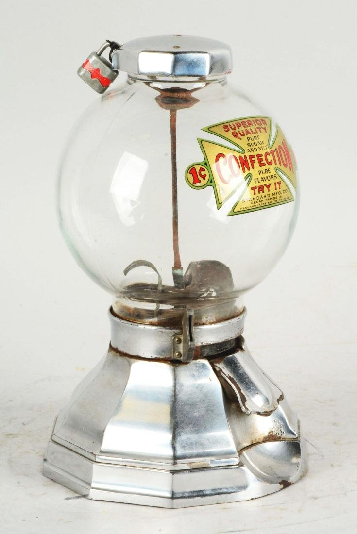 1¢ Standard Mfg. Co. Gum Ball Machine. - 2
