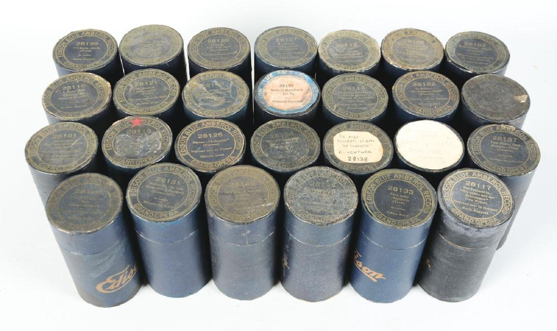 Lot Of 27: Edison 4-Minute Blue Amberol Concert Series