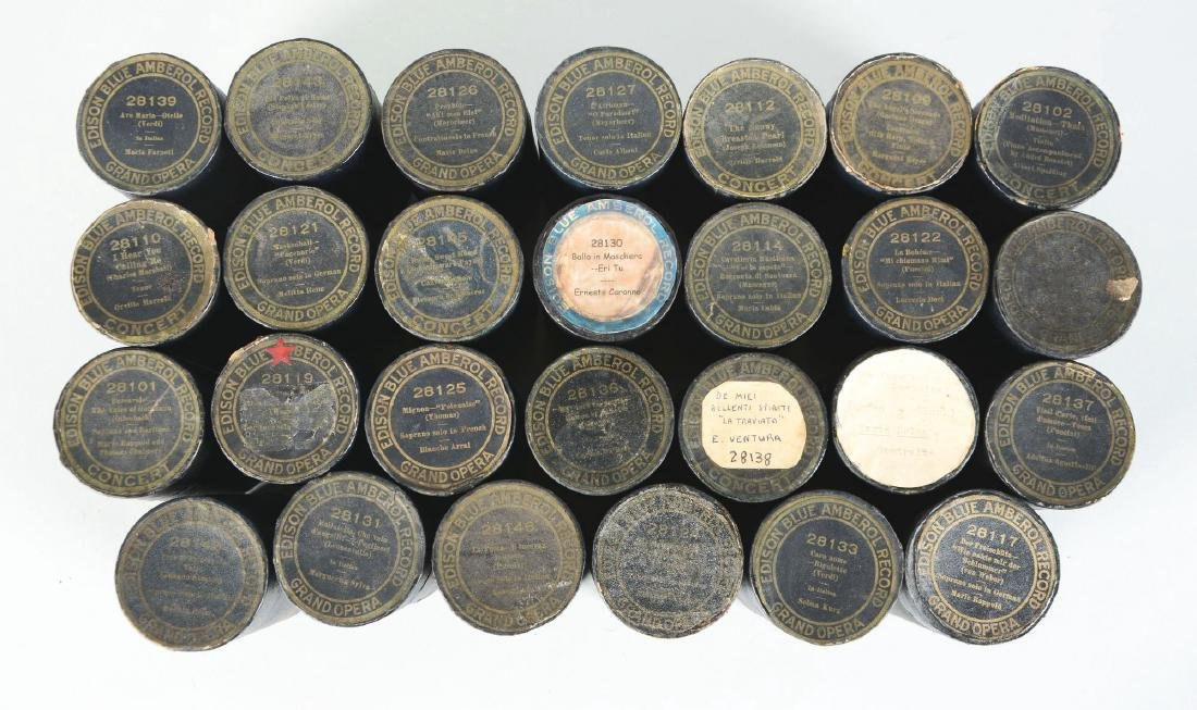 Lot Of 27: Edison 4-Minute Blue Amberol Concert Series - 2