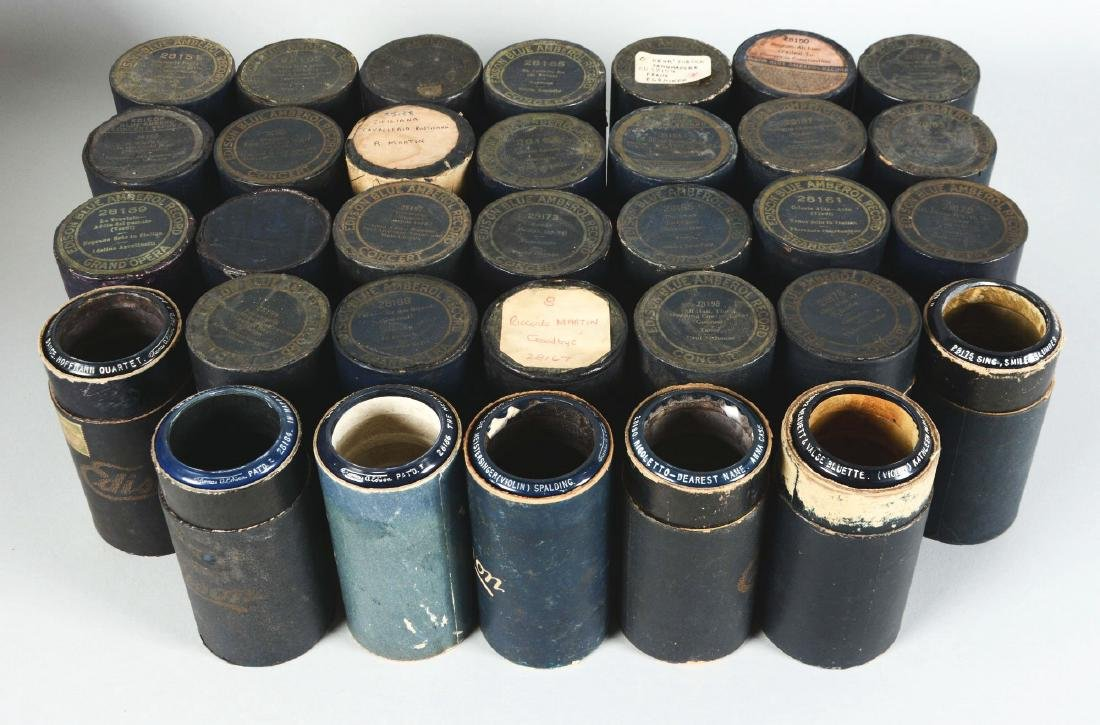 Lot Of 33: Edison 4-Minute Blue Amberol Concert Series