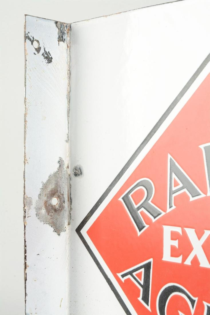 Railway Express Agency Porcelain Flange Sign. - 5