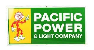 "Reddy Kilowatt ""Pacific Power & Light Company"" Sign."