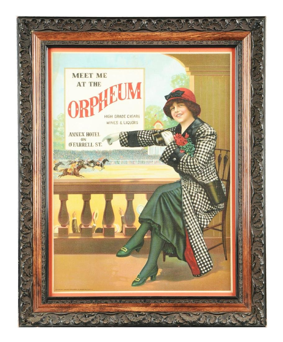 Meet Me At The Orpheum Cigar Advertisement.