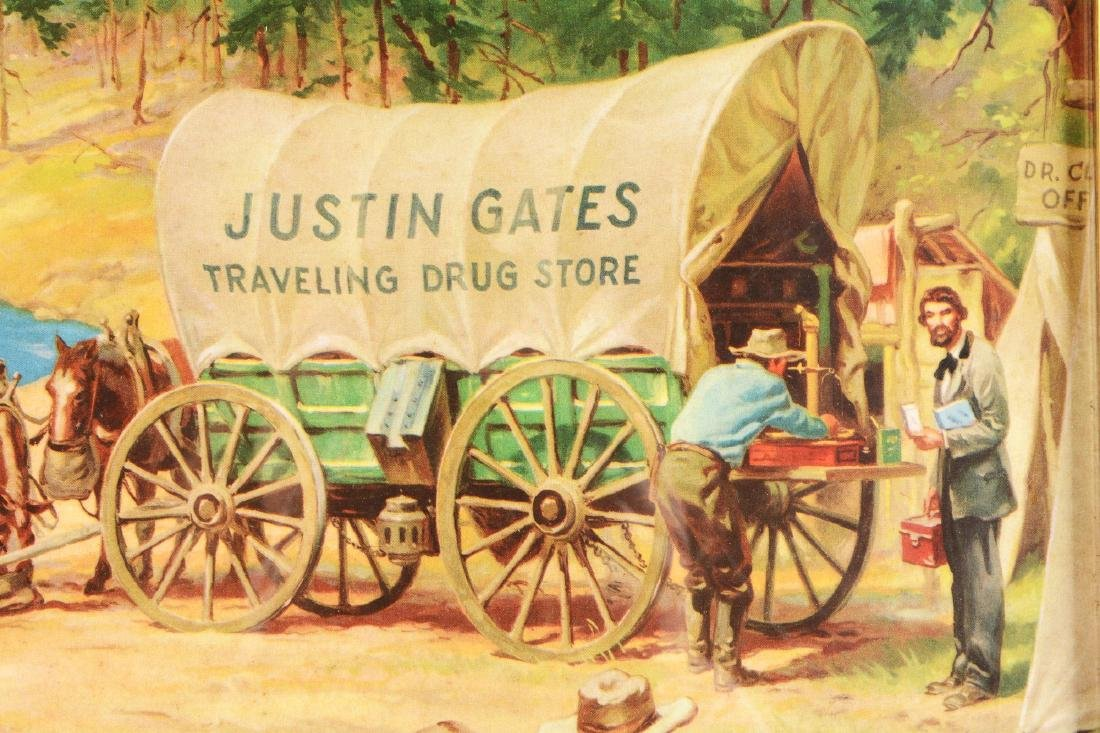 Justin Gates Traveling Drug Store Lithographic - 3