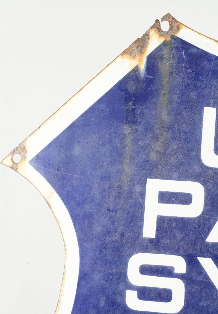 Early Union Pacific System Porcelain Shield Sign. - 4