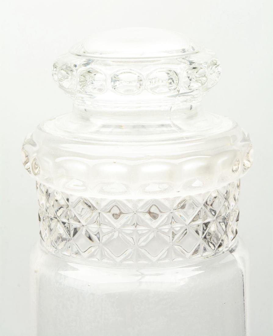 Lot Of 2: Clear Glass Dakota Tube Candy Jars. - 4