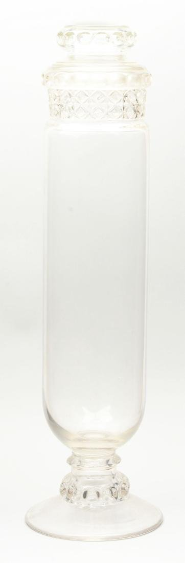 Lot Of 2: Clear Glass Dakota Tube Candy Jars. - 8