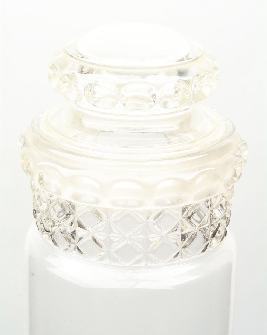 Lot Of 2: Clear Glass Dakota Tube Candy Jars. - 9