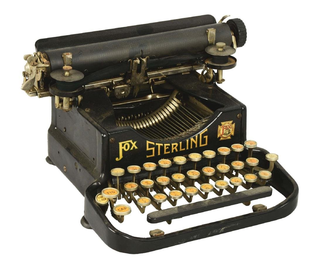 Fox Sterling No. 3 Typewriter.