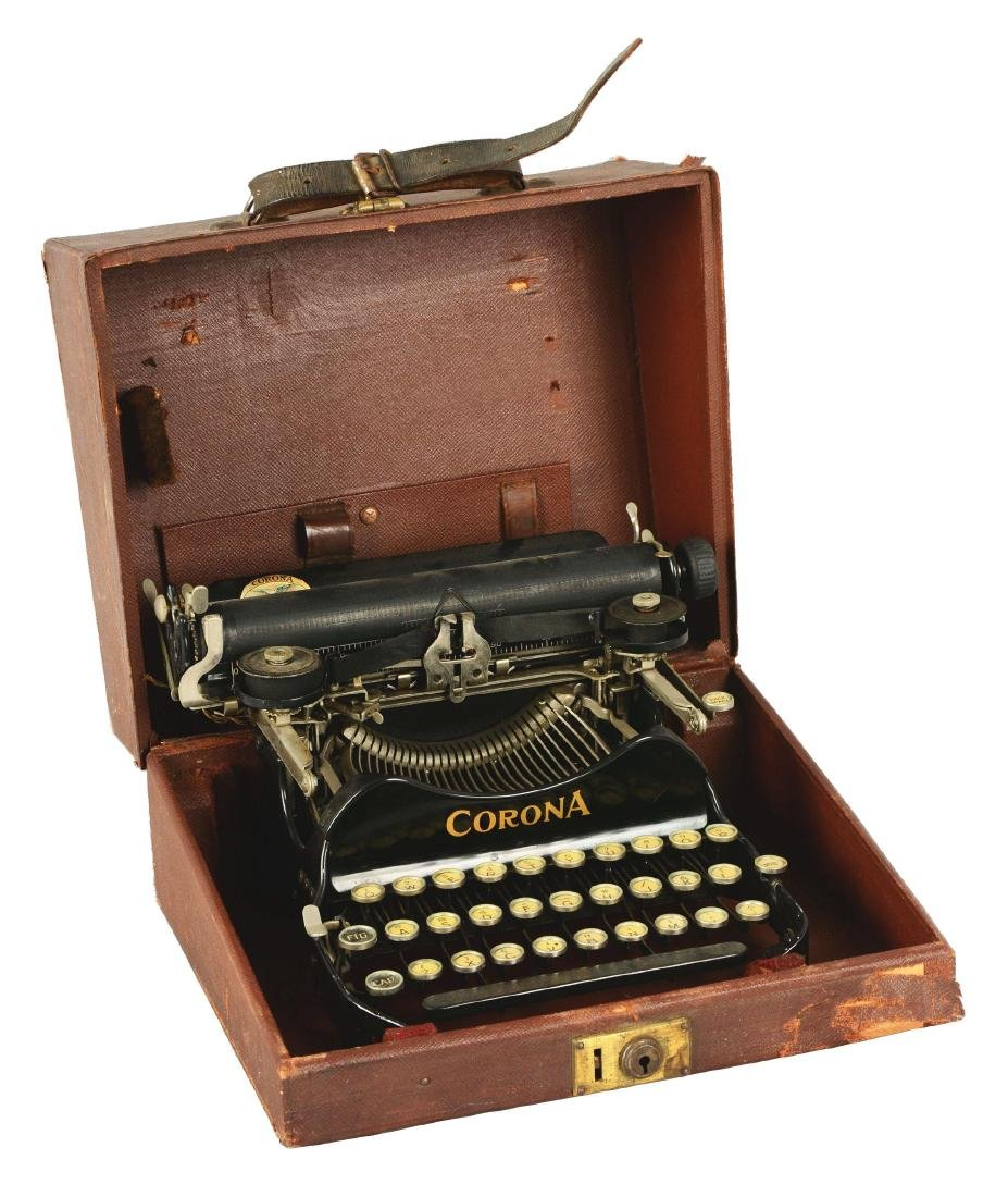 Corona No. 3 Typewriter.