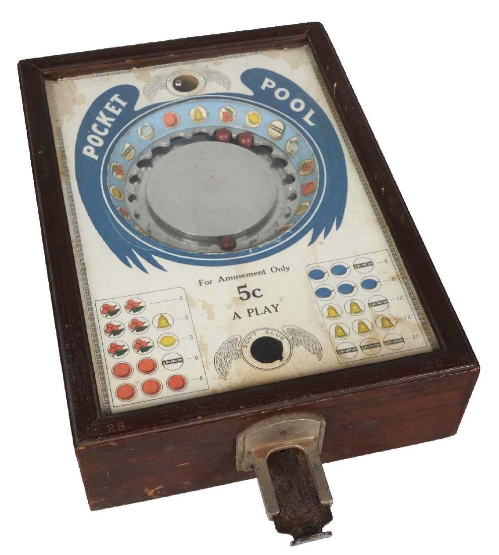 5¢ Kramer Pocket Pool Countertop Roulette Game.