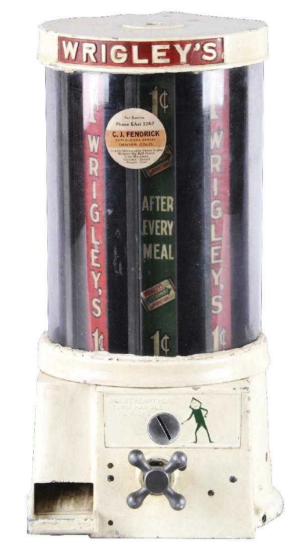 1¢ Wrigley's Chewing Gum Vending Machine.