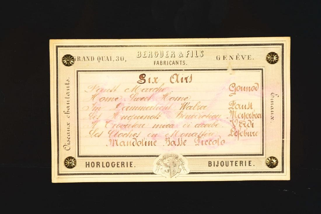 Berger & Fils Swiss Mandoline Music Box. - 6