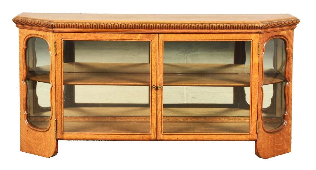 Wood Display Cabinet.
