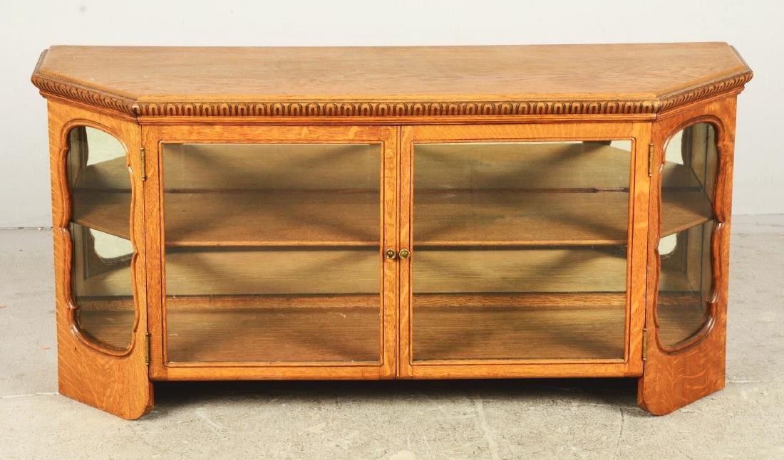 Wood Display Cabinet. - 3