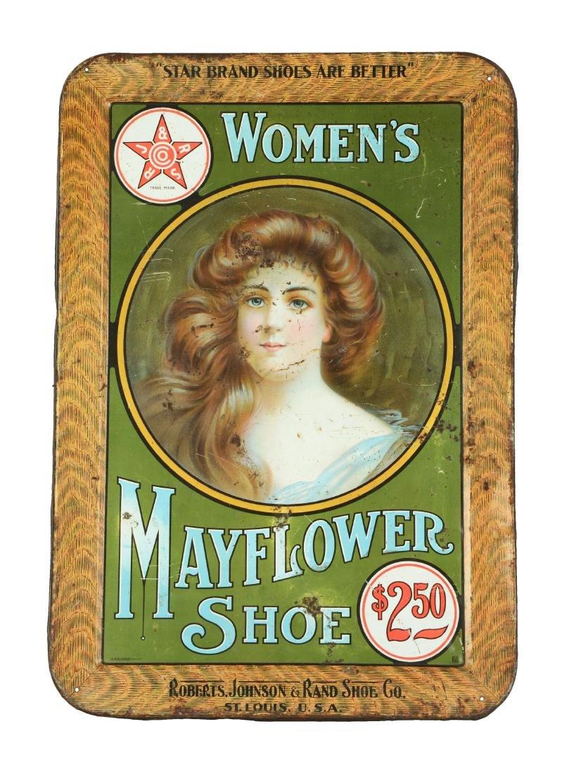 Women's Mayflower Shoe Tin Sign.
