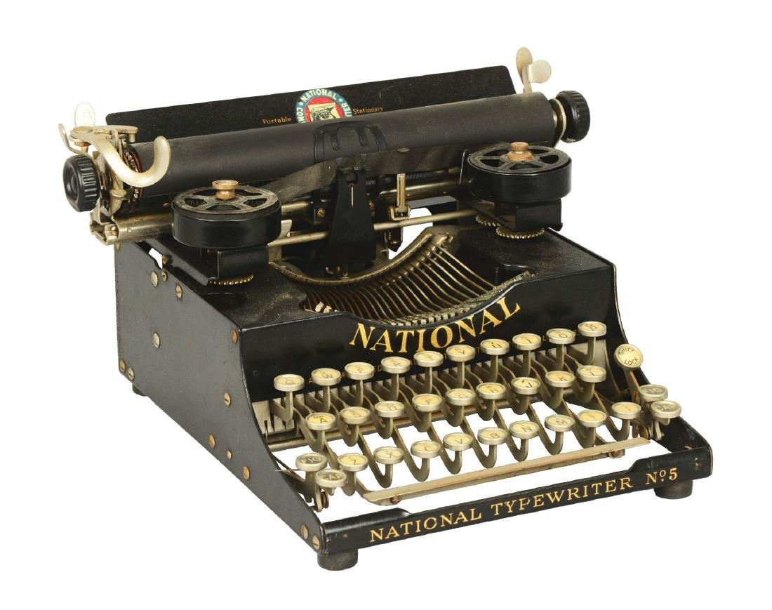 National Combination No. 5 Portable Typewriter.