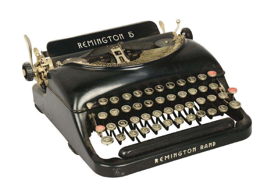 Remington Rand No. 5 Streamline Portable Typewriter.