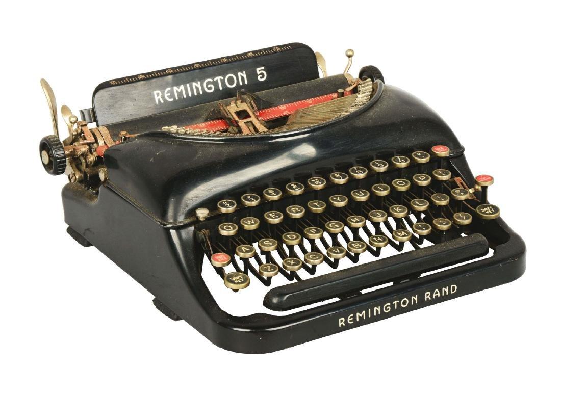 Remington Rand No. 5 Typewriter.