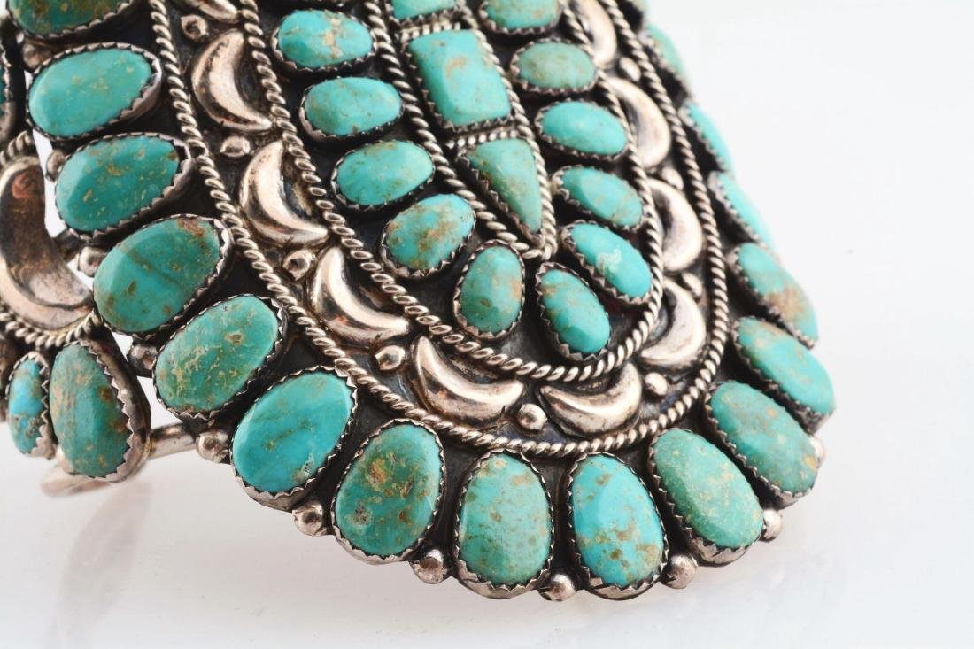 Sterling Silver And Turquoise Bracelet. - 5