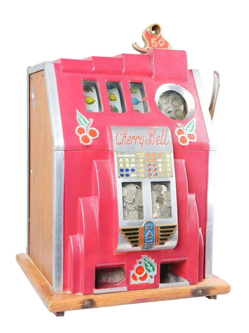 "**5¢ Pace ""Cherry Bell"" Slot Machine."