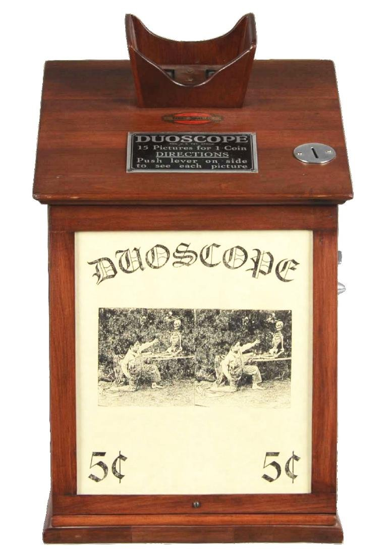 5¢ Exhibit Supply Co. Duoscope Viewer Arcade Machine.