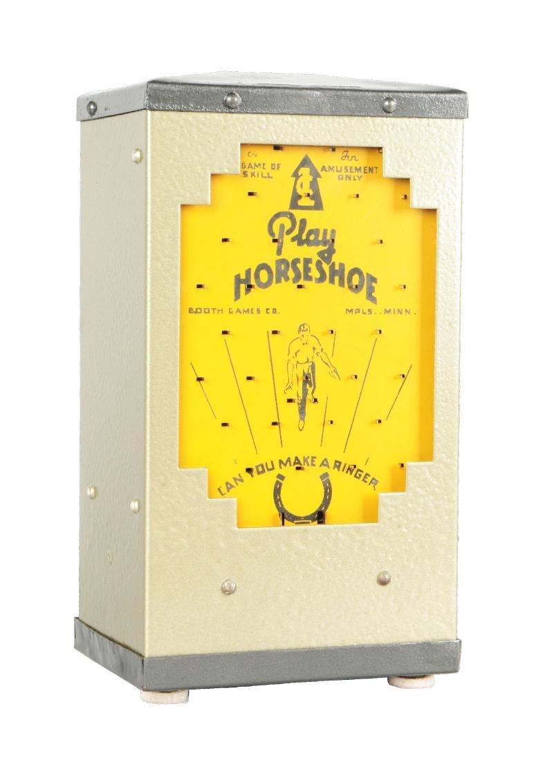 1¢ Play Horseshoe Coin Drop Amusement Machine.