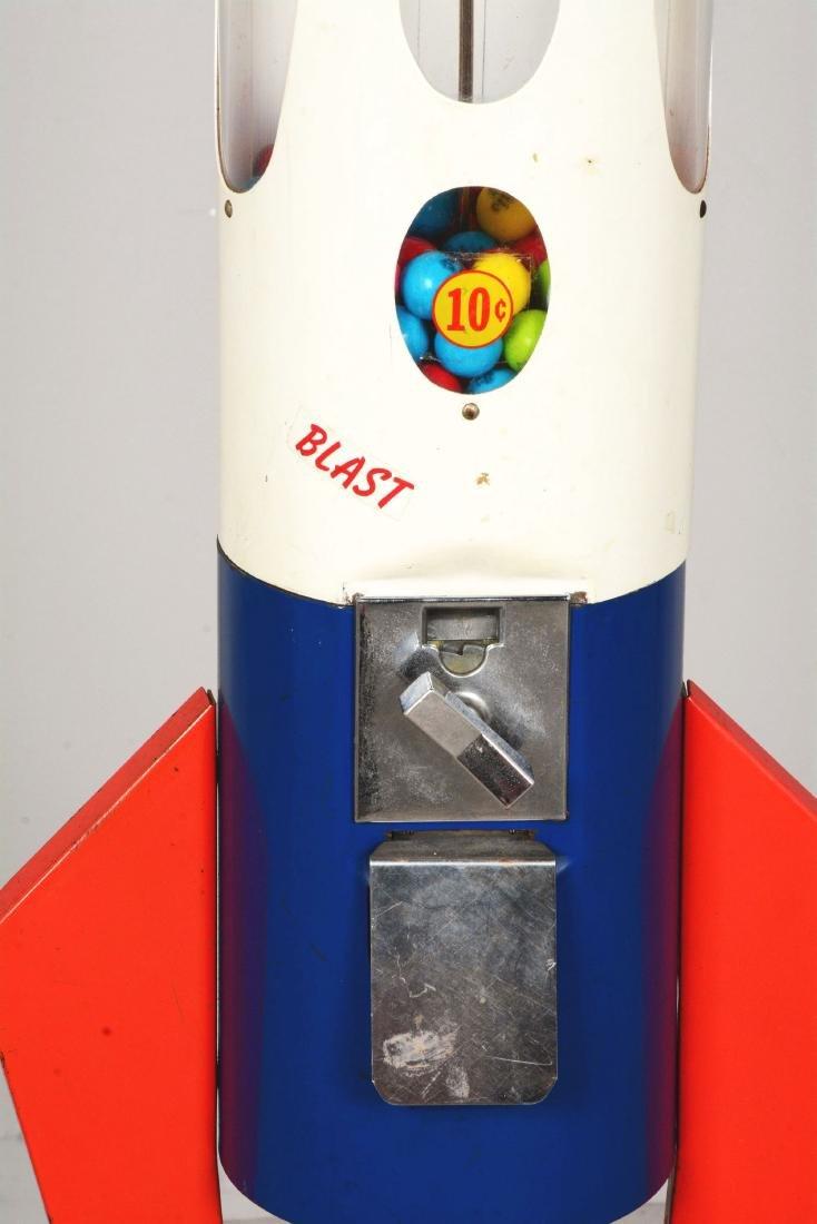 10¢ Northwestern Saturn 2000 Rocket Gum Ball Vending - 5