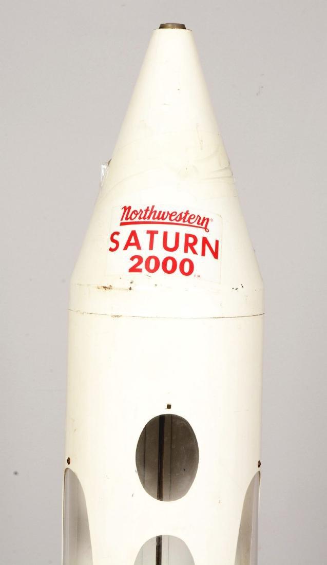 10¢ Northwestern Saturn 2000 Rocket Gum Ball Vending - 6