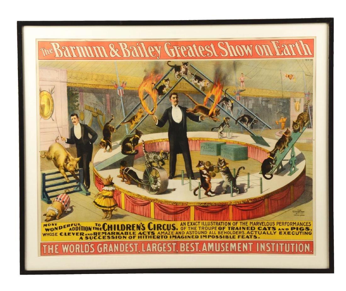 Barnum & Bailey Original Circus Advertising Poster In